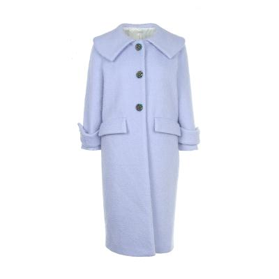 button point big collar coat